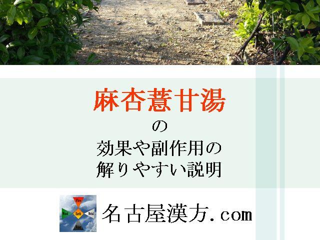 麻杏薏甘湯